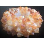 Theelicht houder Citrien puntkristallen