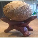 Houten driepoot onderzetter 7,5 cm