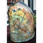 Labradoriet steen groot rondgepolijst