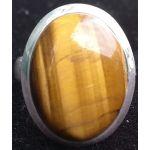 tijgeroog ring zilver 925 ovaal verstelbaar