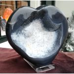Agaat, Chalcedoon en Bergkristal hart ruw en puur natuur