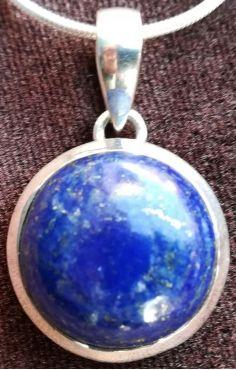Lapis Lazuli hanger zilver rond